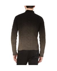 Balenciaga   Black Ombré Aran Knit Sweater for Men   Lyst
