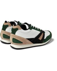 Balenciaga - Green Paneled Leather High Top Sneakers for Men - Lyst