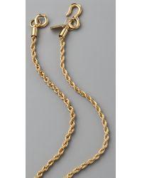 Kenneth Jay Lane - Metallic Polished Stone Pendant Necklace - Lyst