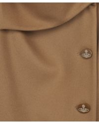 Vivienne Westwood Red Label | Natural Camel Melton Button Up Coat | Lyst