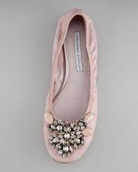 Vera Wang Lavender - Pink Lexi Jeweled Ballerina Flat - Lyst