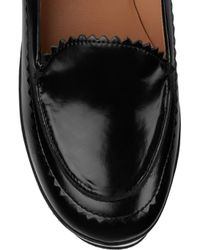 Carven - Black Ursule Leather Wedge Loafers - Lyst