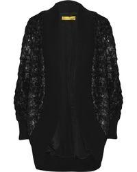 Catherine Malandrino | Black Oversized Faux Fur Cardigan | Lyst