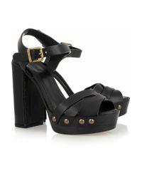 Chloé - Black Studded Leather Sandals - Lyst