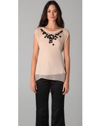 Chris Benz - Natural Beaded Hayes Shell Top - Lyst