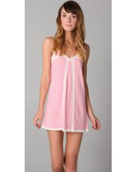 Juicy Couture | Pink Modal Nighty with Lace | Lyst