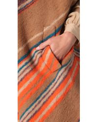 Matthew Williamson - Brown Blanket Striped Poncho - Lyst