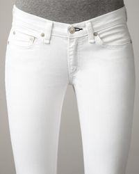 Rag & Bone | White Cropped Stretchtwill Leggings | Lyst