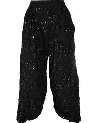 Robert Rodriguez | Black Sequined Silk-chiffon Pants | Lyst