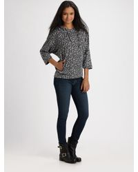 Twisted Heart | Gray Cheetah Cotton Dolman-sleeve Hoodie | Lyst