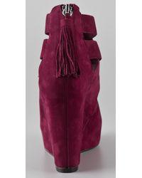 Dolce Vita - Red Jade Wedge Sandal - Lyst