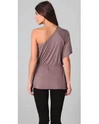 1e6a10e363d Lyst - Ella Moss Draped One Shoulder Top in Pink