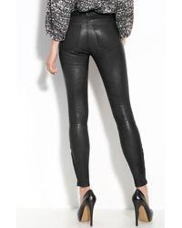 J Brand | Black Lambskin Leather Pants | Lyst