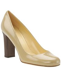kate spade new york | Natural Kami - Camel Patent Block Heel Pump | Lyst