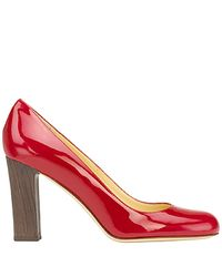 Kate Spade   Red Kami - Raspberry Patent Block Heel Pump   Lyst