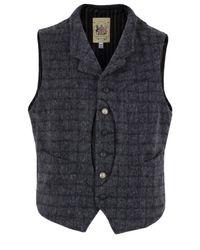 Monitaly | Gray Dark Grey Plaid Hunting Vest for Men | Lyst