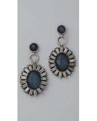 Rachel Leigh | Blue Adorned Statement Earrings | Lyst