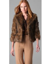 Rachel Zoe - Brown Penelope Faux Fur Jacket - Lyst