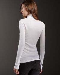 Splendid - White Ribbed Turtleneck - Lyst