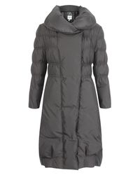 Armani | Gray Charcoal Quilted Puffa Coat | Lyst