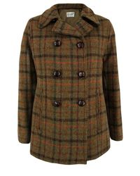 Gloverall | Brown Harris Tweed Check Reefer Jacket | Lyst