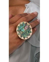 House of Harlow 1960 | Multicolor Abalone Sunburst Cocktail Ring | Lyst