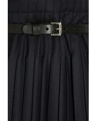 J.W.Anderson - Blue Pleated Wool Kilt - Lyst