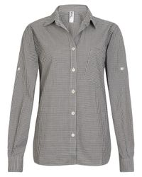 MHL by Margaret Howell | Black Fade Out Gingham Shirt | Lyst