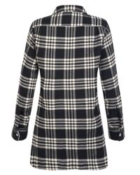 MHL by Margaret Howell - Black Oversize Blanket Check Shirt - Lyst