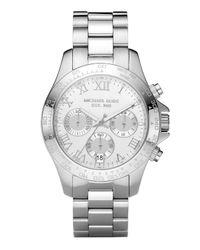 Michael Kors | Metallic Stainless Steel Chronograph Layton Watch | Lyst