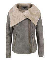 Muubaa | Gray Moo75 Elephant Leather Jacket | Lyst