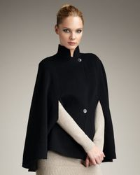 Theory | Black Wool Cape | Lyst