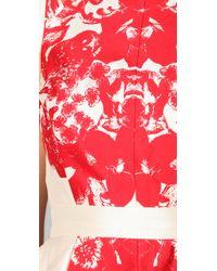 Tibi | Natural Rococo Print Cap Sleeve Dress | Lyst