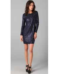 Tibi | Blue Sequined Shift Dress | Lyst