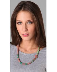 Vanessa Mooney - Pink Vintage African Glass Necklace - Lyst