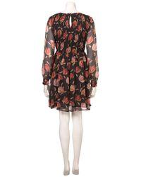 TOPSHOP - Black Monochrome Lace Detailed Dress - Lyst