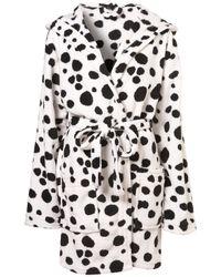 TOPSHOP | Multicolor Dalmatian Fluffy Pj Robe | Lyst