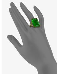kate spade new york - Green Cocktail Ring - Lyst
