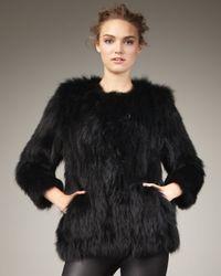 Theory | Black Box Fur Jacket | Lyst
