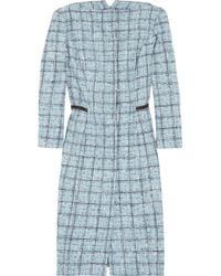 Carolina Herrera | Blue Plaid Cotton-blend Coat | Lyst