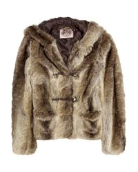 Juicy Couture | Brown Rex Faux Fur Hooded Jacket | Lyst