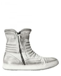 BB Bruno Bordese | White Padded Dirtied Calfskin High Top Sneaker for Men | Lyst