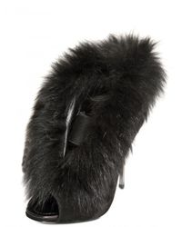 Diego Dolcini - Black 120 Mm Suede and Fox Fur Boots - Lyst
