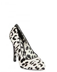 Dolce & Gabbana | White 120mm Ponyskin Leopard Print Pumps | Lyst