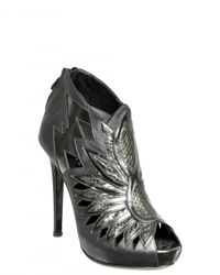 H Williams - Metallic 110mm Calf and Python Low Boots - Lyst