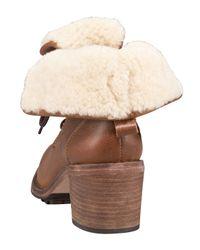 Hunter   Brown Marisa Shearling Boot   Lyst