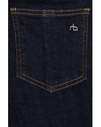 Rag & Bone - Blue Midrise Skinny Jeans - Lyst