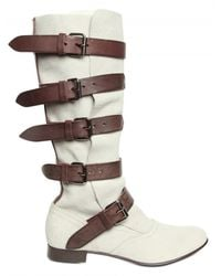 Vivienne Westwood - White 20mm Soft Calfskin Pirate Boots - Lyst