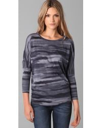 C&C California - Blue Watercolor Dolman Top - Lyst
