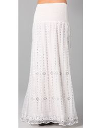 Free People | White The Beaded Midnight Maxi Skirt | Lyst